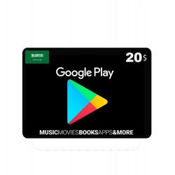 Google Play Saudi - 20 RS