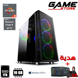 Game Console - PC Gaming - AMD Ryzen 3 2200G Processor - 16 GB RAM - Integrated AMD VEGA 8 Graphics Card