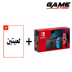 Nintendo Switch - Colorful - New Edition + 2 Games + Cover Case