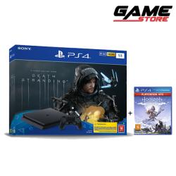 PlayStation 4 - Slim Death Strand Edition with Game + Horizon Zero Game - 1 TB