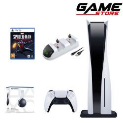 PlayStation 5 + Charging Dock + PlayStation 5 Headset + Spider-Man Miles