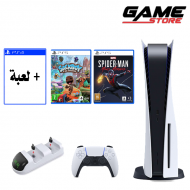 Playstation 5 + 3 games + charger charger