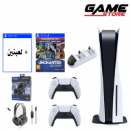 PlayStation 5 + Uncharted Collection + 2 Games + Headset + Extra Hand + Charger Dock - PlayStation 5